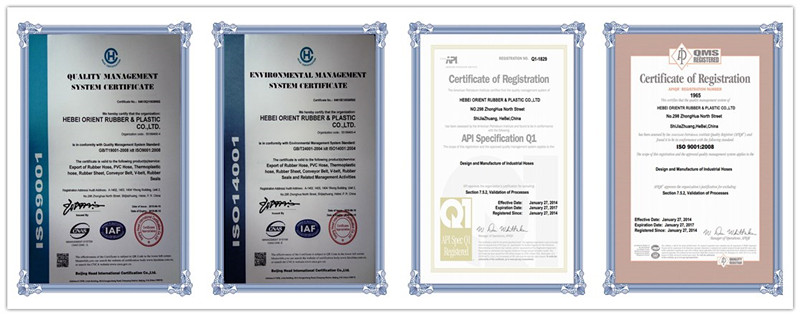 hydraulic hose r2 certifications