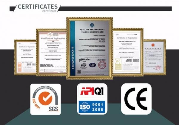 Pressure Testing Hose Certificate