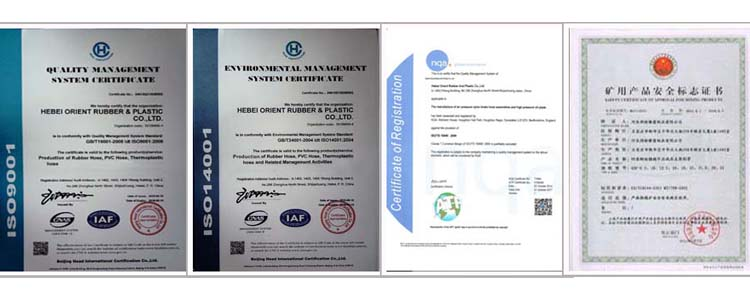 certificate of Water Discharge hose