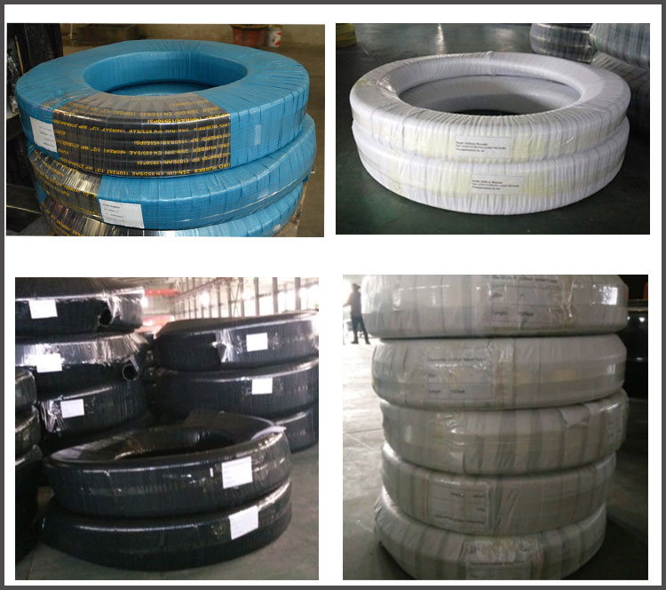 Water suction and discharge hose packaging
